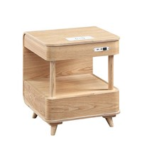 Bed Side Table Ash Veneer Solid Ash Leg with 2.1 Blue Tooth Speaker Living Room Coffee Table