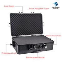 Black Waterproof Hard Medium Size Pelican Case with Foam