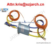 Subsea Connector 4 Channels FORJ / Fiber Optic Rotary Joint 6 Circuits Electro Slip Ring For ROV AUV
