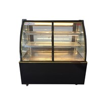 Curved Glass Pastry Display Refrigerator Cake Showcase for Bakery Store