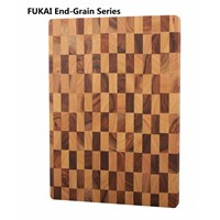 End-Grain Series Acacia & Rubber Wood, Cutting Board