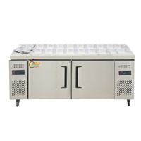 Wholesale Price Salad Bar Display Counter Worktable Freezer with Trays
