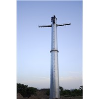 Galvanized Steel Transmission Monopole Tower