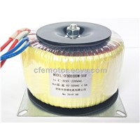 CHANGFENG THANK 300W 100% Copper Wire Toroidal Transformer BK300W 220VAC To 55VAC 4.5A BOD300W