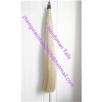 "Western Horse Hair Tail Extension 36"" Long 1 Pound Blunt Cut for Showing Horses"