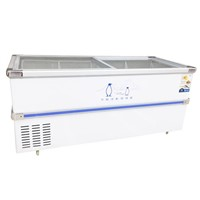 Large Capacity Island Freezer for Frozen Food with Aluminum Alloy Frame