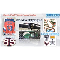 Permanent Sports Twill, No Sew Applique Cutting, Tackle Twill Cutting