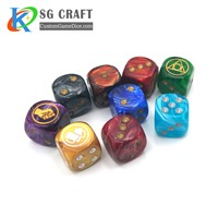 Custom Party Game Plastic Dice Set Custom Plastic Dice Set