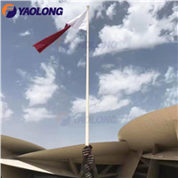 White Powder Coated Steel Electric Flag Pole for Qatar National Museum