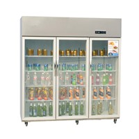 Big Capacity Vertical Hanging Meat Freezer Display Cabinet for Butchery