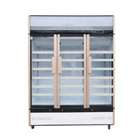 Three Glass Door Air Cooling Soft Drink Display Refrigerator Beverage Cooler