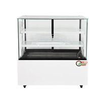 0-10 Transparent Glass Deli Showcase for Hot Food Display