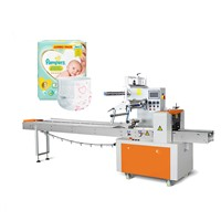 Factory price semi-automatic adult baby diaper packing packaging machine