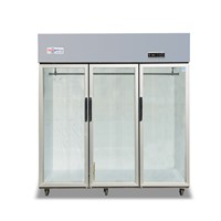 Kitchen Display Refrigerator 3 Doors Glass Door Stainless Steel Freezer for Restaurant