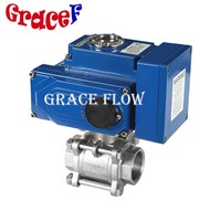 Stainless Steel Flange Ball Valve with Electric Actuator 24v 110v 220v 380v