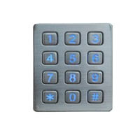 Access Control Backlit Numeric 12 Button Door Keypad