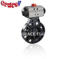 Hot Sale China Pneumatic PVC Butterfly Valve