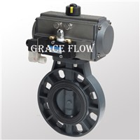 Plastic Butterfly Valve with Pneumatic Actuator