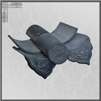 Japanese Style Clay Roof Tiles for Buddhist Temple