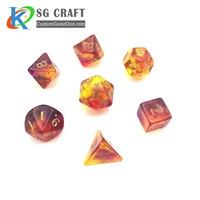 Plastic Polyhedral Dice for Board Game