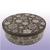 Creative Christmas Tin Box, Gifts Metal Crafts, Bake Box, Cookie Gifts Tin Can with Color Printing