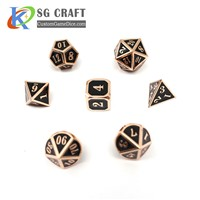 Old Black Enamel Rpg Precision Metal Polyhedral Dice
