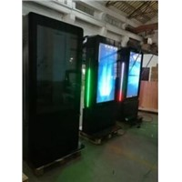 "55"" Outdoor Double Sided Kiosk with LED Strip&Touch Foil(2000NITS-4000NITS Option)"