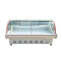 Direct Cooling Fresh Meat Seafood Showcase Butchery Equipment