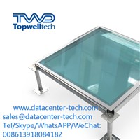 High Quality Glass Raised Floor 600*600*30mm Data Entry