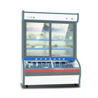 Three Glass Door Snack Bar Showcase Refrigerator for Vegetable Drinks