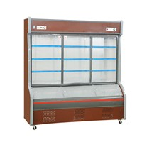 Two Temperature Fruit Vegetable Freezer Dish Order Display Showcase
