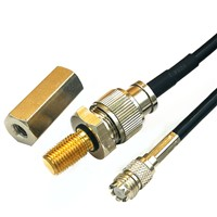 UHF Male PL259 to Mini UHF Female Cable Assembly with Adapter RG58 1850mm for Car Reversing Camera