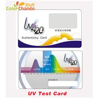 New High Tech, Non-Toxic, Environmentally Friendly UV Detection Card