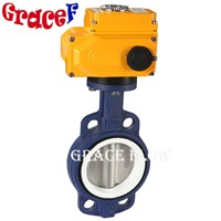 China Epoxy Wafer Butterfly Valve with Electric Actuator