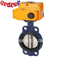 Cast Iron Epoxy Butterfly Valve with 12V 24V 110V 220V 380V Electric Actuator