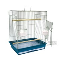 Bird Cage with Removable Plastic Tray, Mobile Large Parrot Cage w/Stand Bird Cage