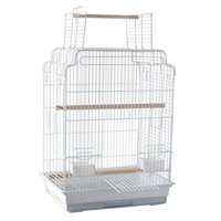 African Grey, Amazon, Small Cockatoo, Collapsible Bird Carrier, Wrought Iron Flight Cage with Perch Stand