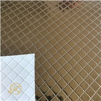 Silver Golden Color PVC Film Emboss Surface Aluminum PVC Foil