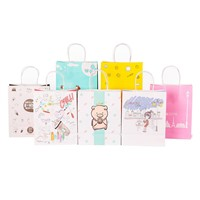 Wholesale Logo Printed Retail White Kraft Paper Shopping Bag with Handle