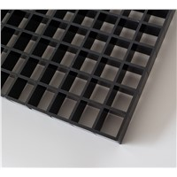 Plastic EggCrate Grille Black, Egg Crate Core, Cube Cell Panel China