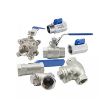 "1/8"" -4"" cf8m 1000 wog 1Pc Type Threaded Female Stainless Steel SS 304 NPT one piece ball valve"