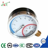 Pressure Thermometer & Pressure Gauge Manometer with Multifunctional Type
