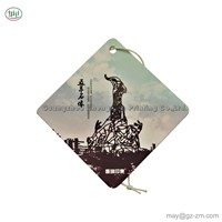 CMYK Printing Paper Card Customized Long Lasting Smell Car Air Fresheners for Famous Architecture Series