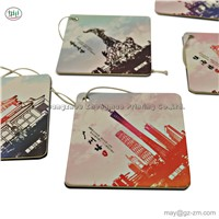 New Fashion Wholesale High Quality Promotional Reusable Eco- Friendly Custom Paper Hanging Car Air Freshener