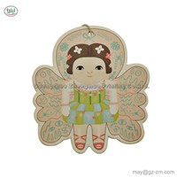 China Supplier Wholesale Custom Scented Paper Car Hanging Air Freshener In Beautiful & Lovely Girl Design