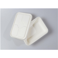 850ml Quality Disposable Biodegradable Box with Separate Lid(Waterproof, Oil-Proof, Fit to Microwave)