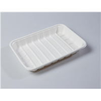 "8"" Quality Disposable Biodegradable Square Plate(Waterproof, Oil-Proof, Fit to Microwave)"