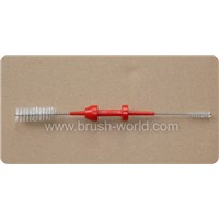 Produce & Supply Medical Cleaning Brush with Nylon Bristles, Stainless Steel Wire & PP Handle