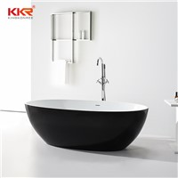 Black Faux Stone Bathtub Solid Surface BathTub Free Standing Bathtub Acrylic