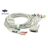 Schiller EKG Cable with Leadwires, Clip, AHA